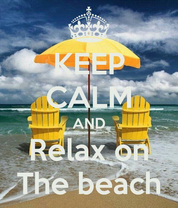 Keep Calm and Relax Motivational Wall Art
