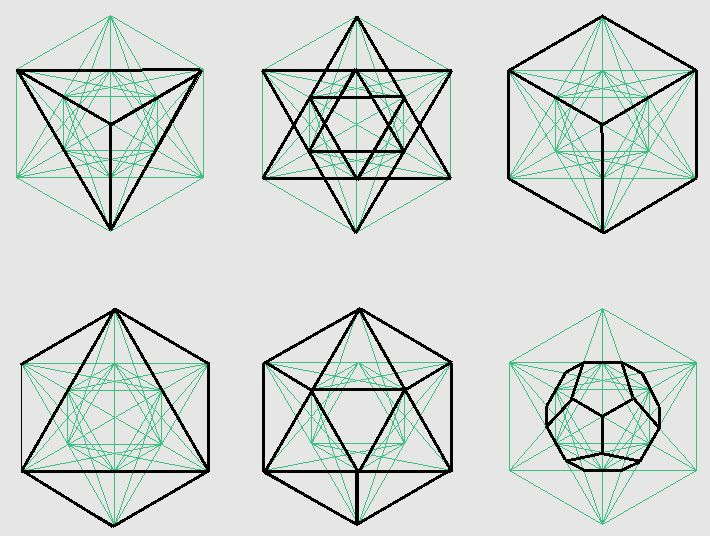 how to draw platonic solids