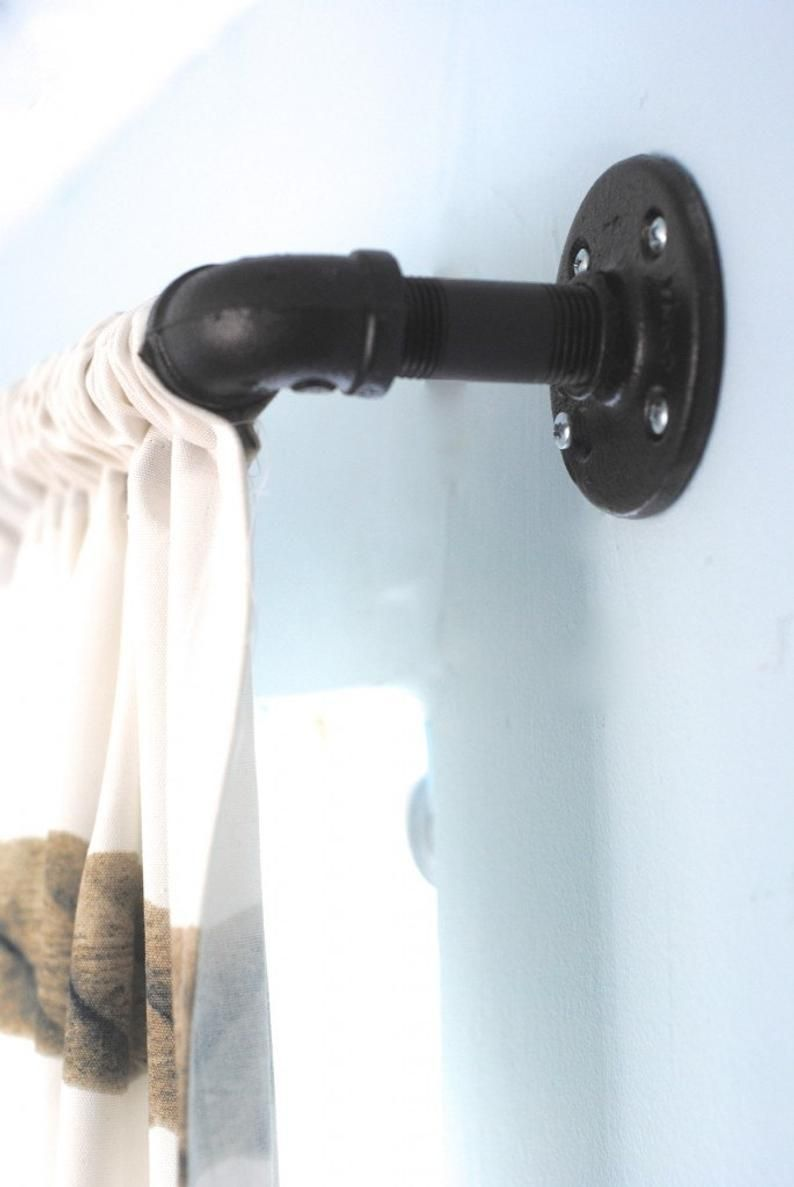 Pin On Industrial Pipe Curtain Rod