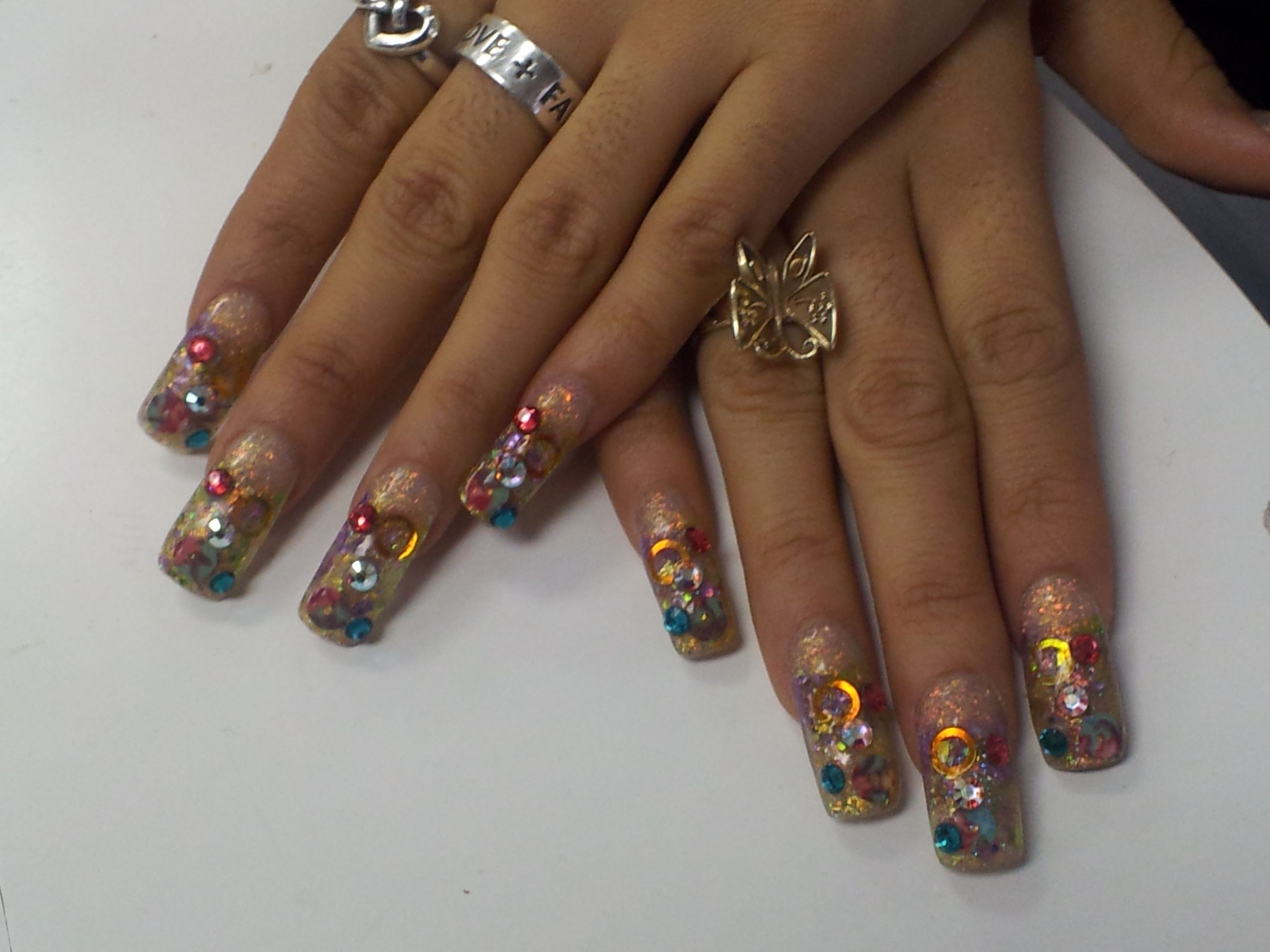 Glamorous NAIL ART done by students at our beauty school