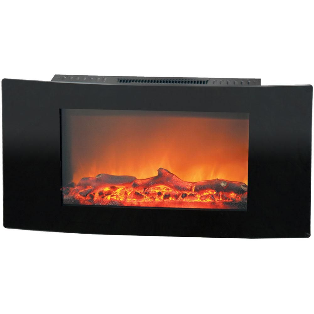 Hanover Fireside 35 In Wall Mount Electric Fireplace With Black