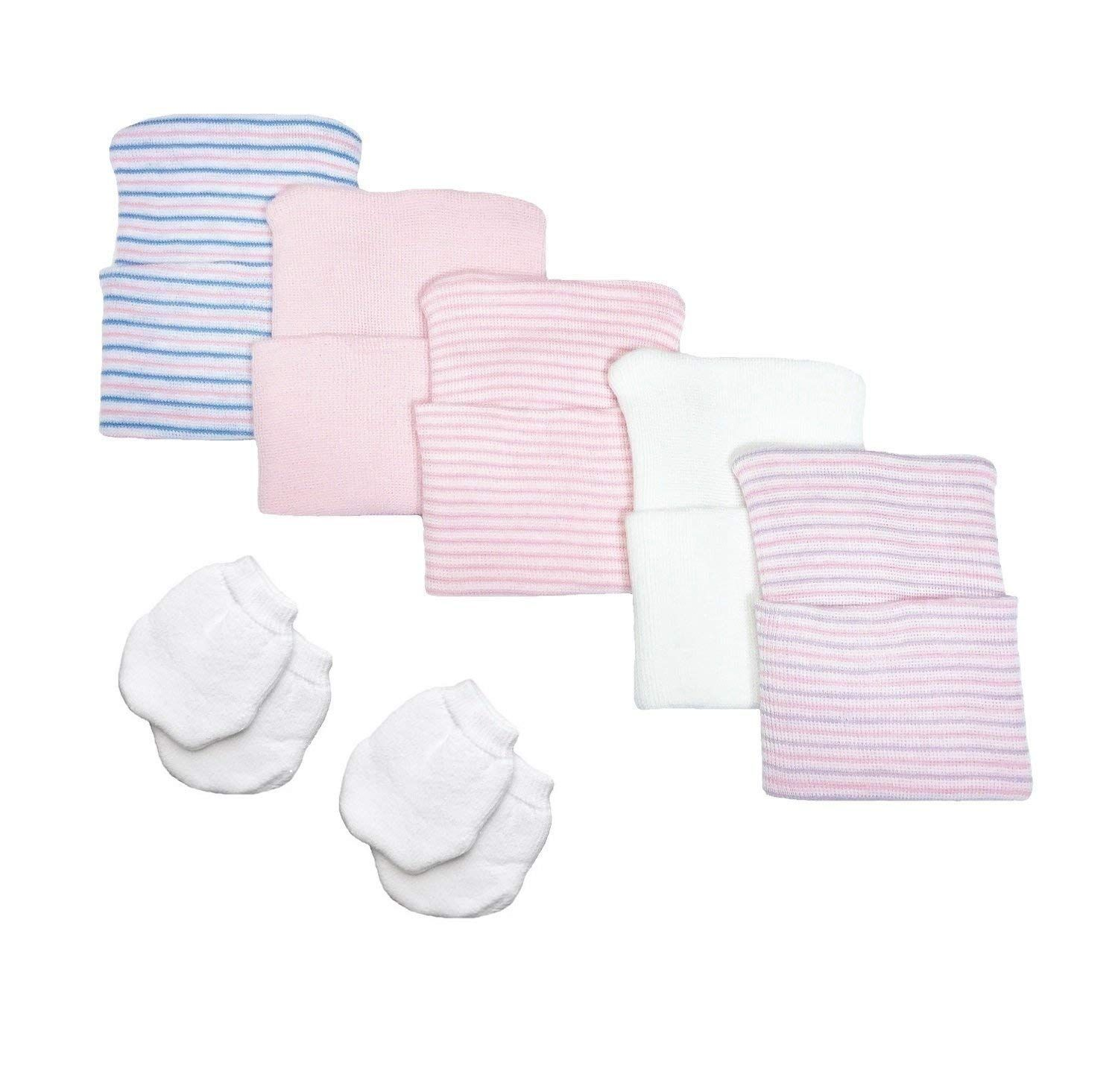 White Newborn Baby Mittens By Nurses Choice Includes 6 Pairs Of No Scratch Cott
