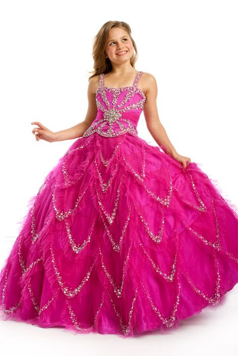 7e6850d34d Glitz Pageant Dress By Perfect Angels Pageant Dress Style 1420 in Fuchsia!  Available at www.goldenneedlebridal.com Call 386-755-6116 for the best  prices!