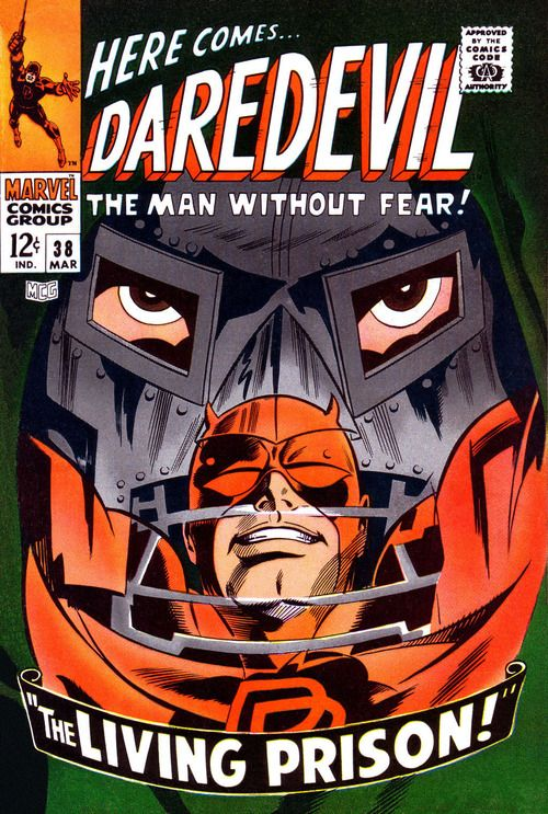 Daredevil #38, March 1968, cover by Gene Colan, Frank Giacoia, and Stan Goldberg