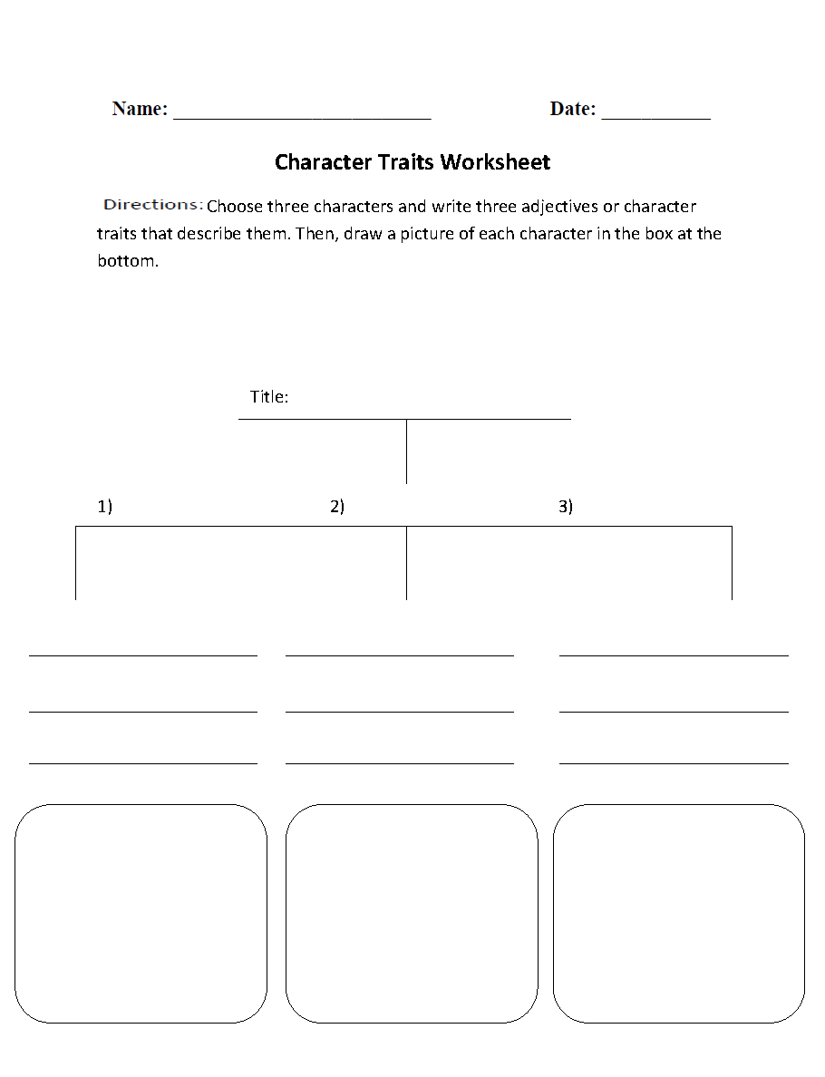 Character Traits Character Analysis Worksheet | Englishlinx ...