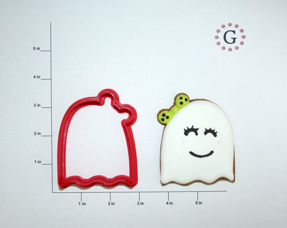 Girl Ghost Cookie Cutter  2 Size Options by GingerbreadCutterCo, $3.75