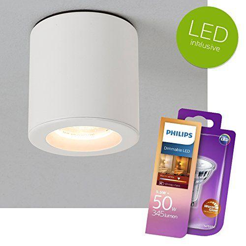 LED Aufbauspot KOS dimmbar Aluminium Aufbaustrahler WEISS IP65 + - badezimmer deckenlampen led