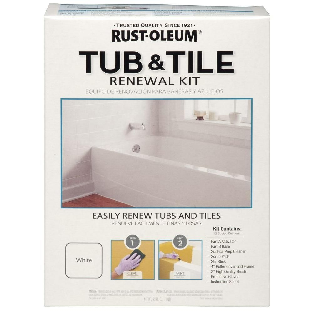 Rust-Oleum 1-qt. White Tub and Tile Renewal Kit-264862 at The Home ...