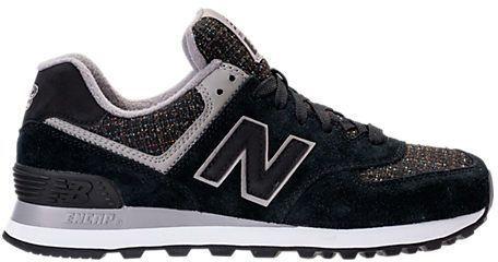 New Balance Women's 574 Winter Nights Casual Shoes, Black