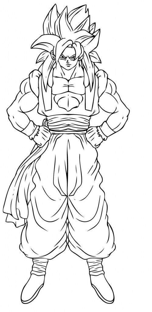 Free Printable Dragon Ball Z Coloring Pages For Kids Coloring Pages Steampunk Coloring Dragon Ball Z