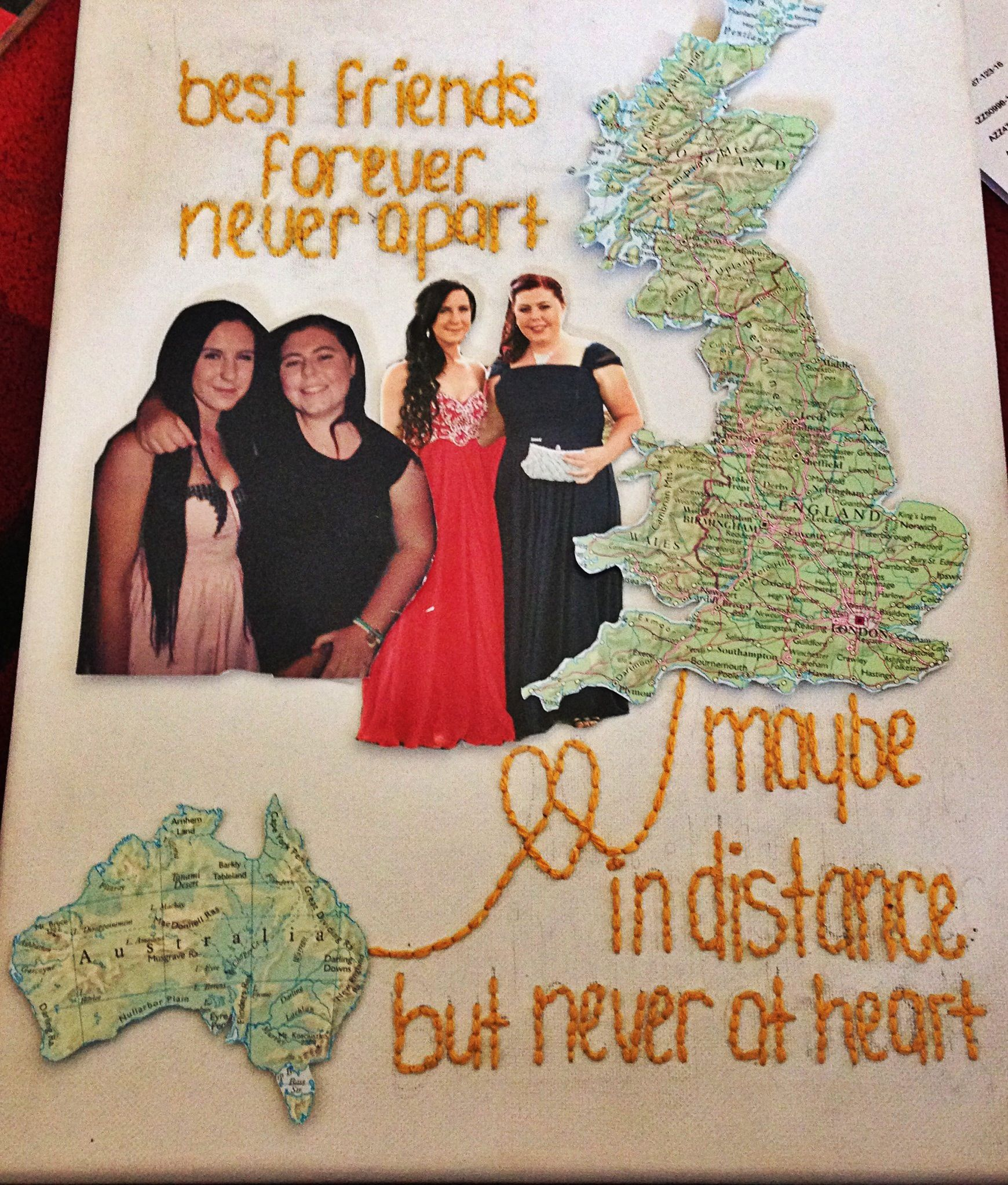 Scrapbook ideas about friends - Made This As A Farewell Gift For My Best Friend Who Is Moving From Australia Over
