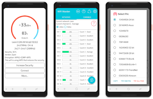 WiFi Warden v2 4 2 Unlocked Apk less crowded channel to increase the