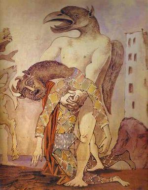1936 La dépouille du Minotaure en costume d'Arlequin pour le 14 juillet par Romain Rolland