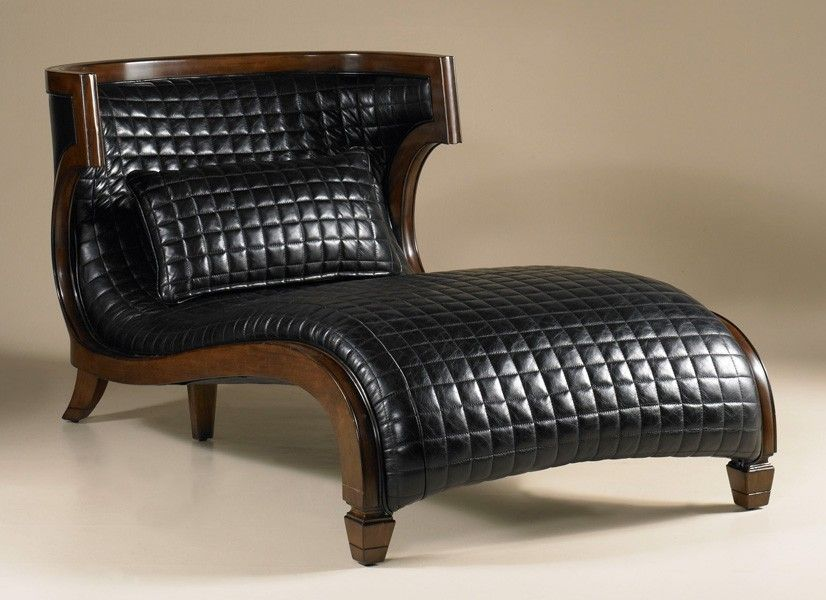 Black Leather Chaise Lounge maitland smith | Ideas for the House ...