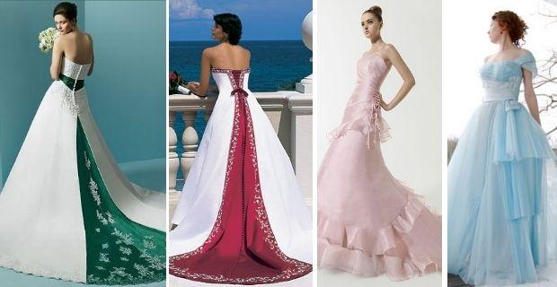Vestidos de novia de color, ¿te atreves? | mode and the city ...