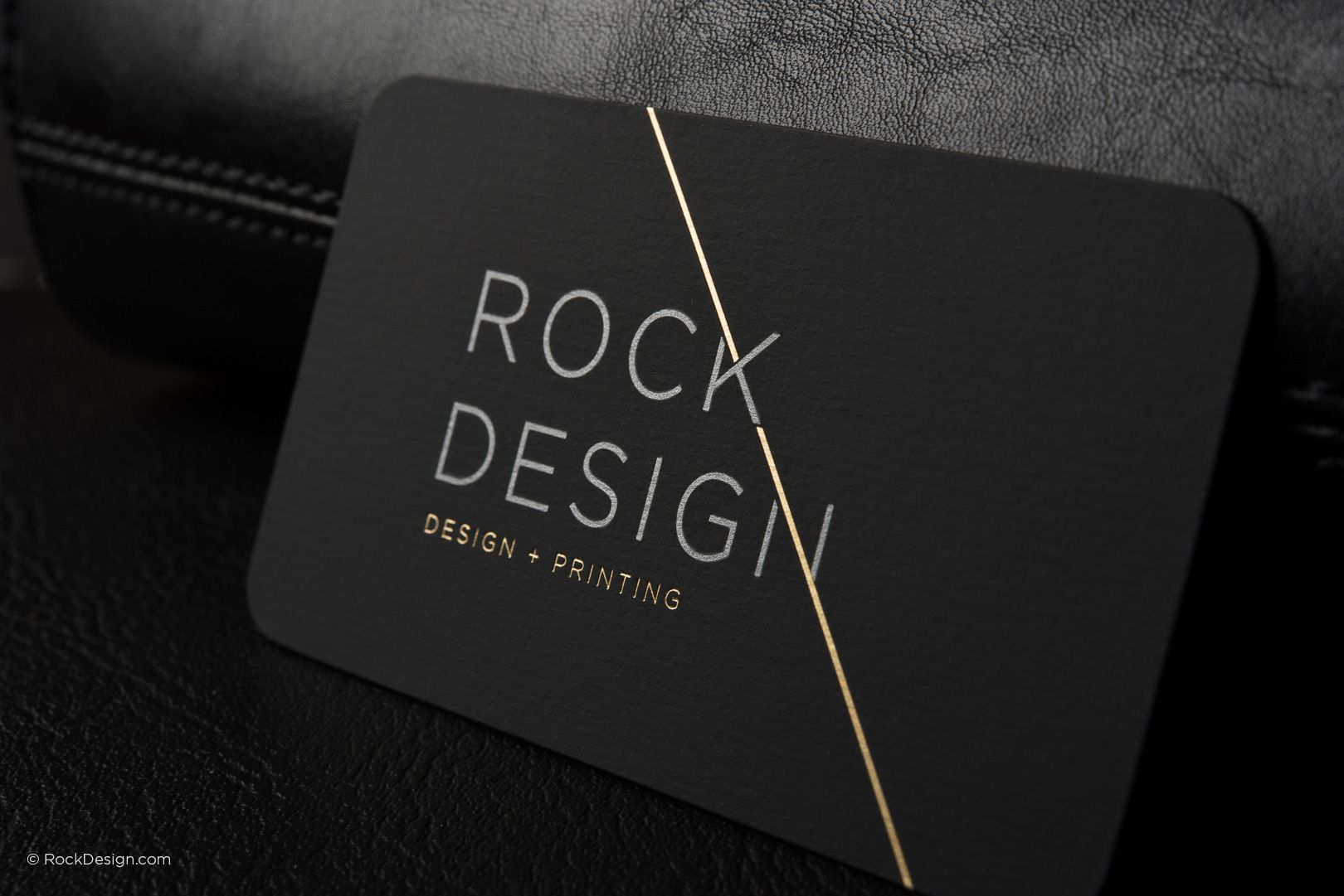 Luxury modern black suede business card with metallic ink and gold luxury modern black suede business card with metallic ink and gold foil rock design rockdesign luxury business card printing colourmoves
