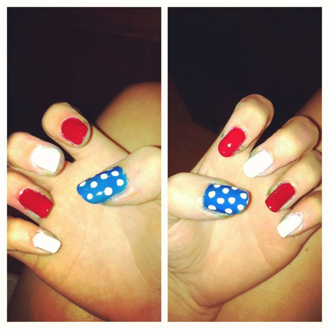4th of july nails! (: