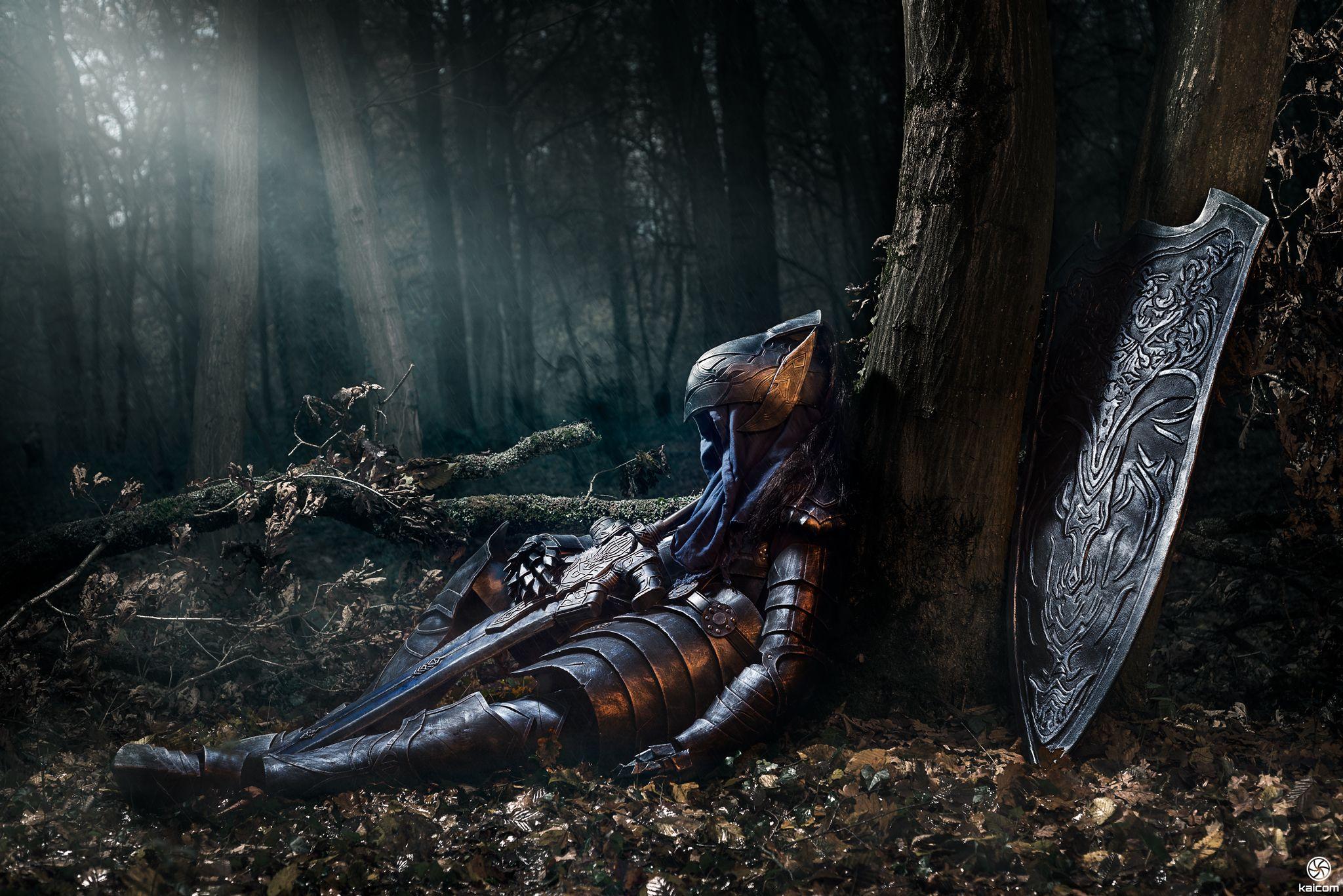 Knight Artorias Dark Souls By Kaihansen3004 Sleeping Wounded Dead Elf Fighter Knight Solider Forest Woods Shield Armor Dark Souls Dark Souls Wallpaper Knight
