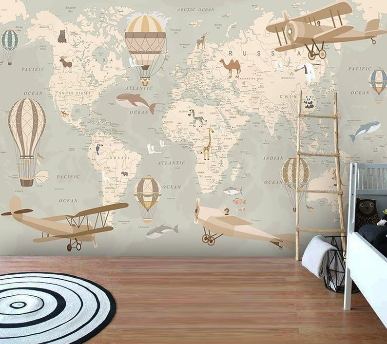 Wallpaperadhesive Etsy In 2020 Kids Room Wallpaper Nursery Room Design Vinyl Wallpaper