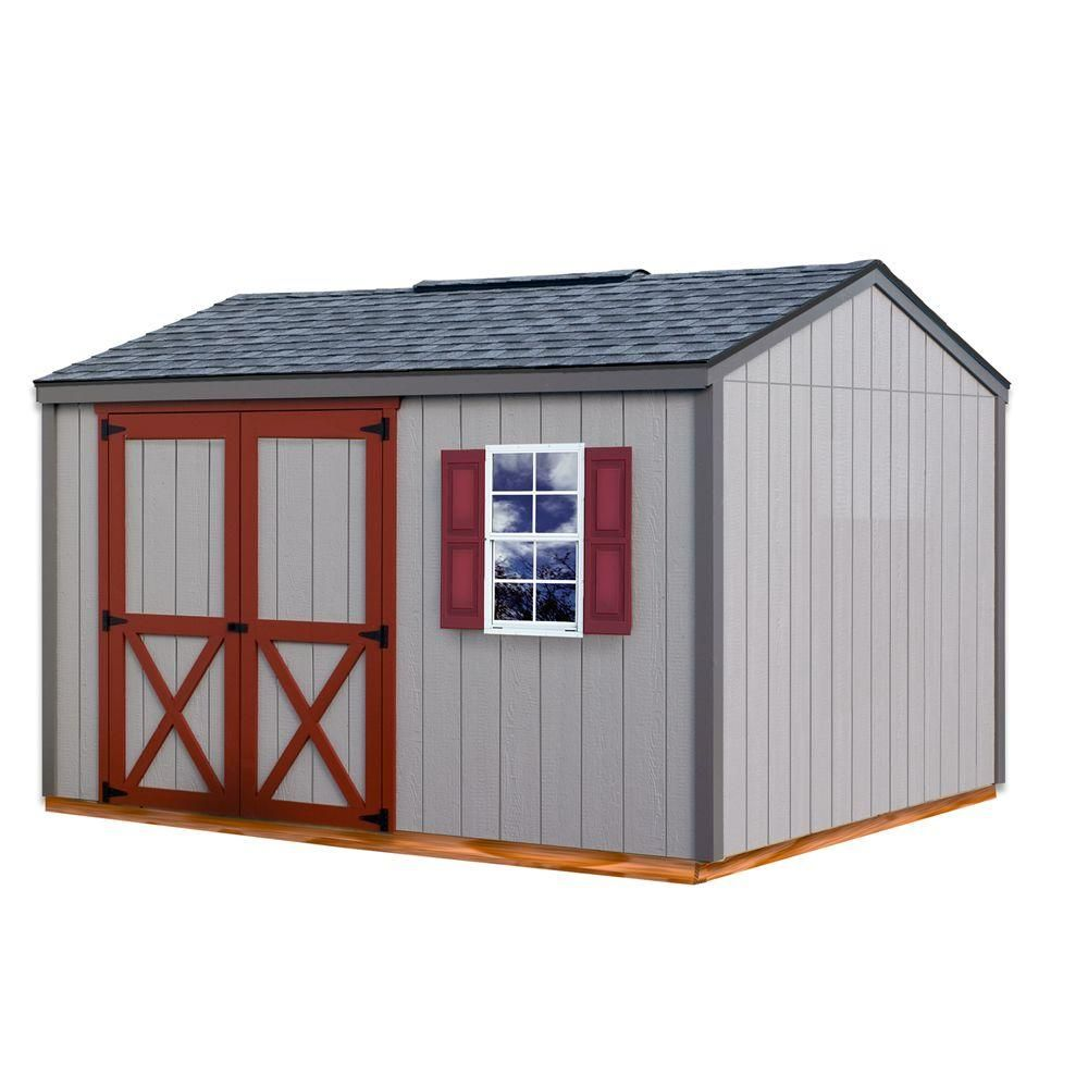 Best Barns Cypress 12 Ft X 10 Ft Wood Storage Shed Kit With Floor Cypress 1210df The Home Depot Storage Shed Kits Outdoor Storage Sheds Shed Kits