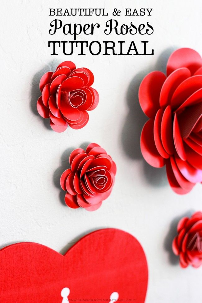 How to make easy paper roses paper roses craft and diy flowers how to make easy paper roses printable crush mightylinksfo