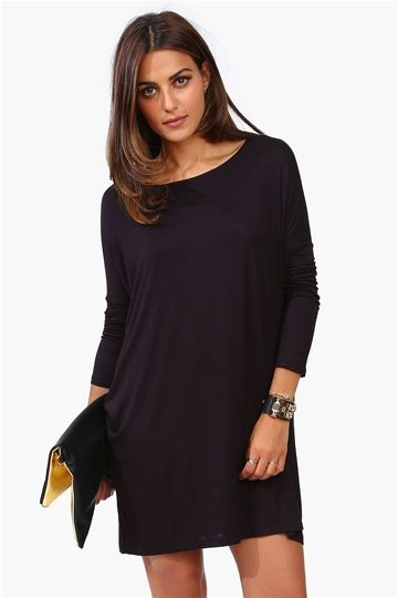 Basic Black Fall Dress That Would Be A Great Church Or Work Dress