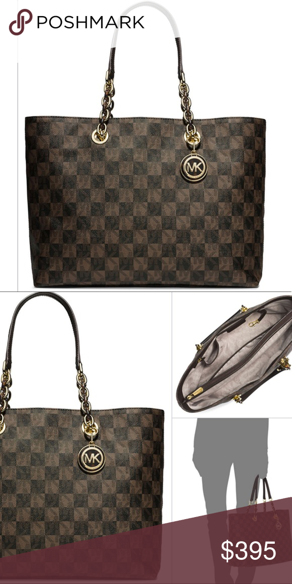 003c79e9390a Michael Kors Large Checkboard Tote This purse is retired and extremely hard  to find! One