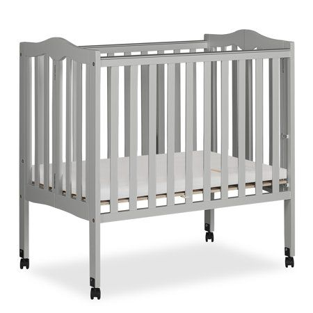 Baby Portable Crib Small Crib Pebble Grey