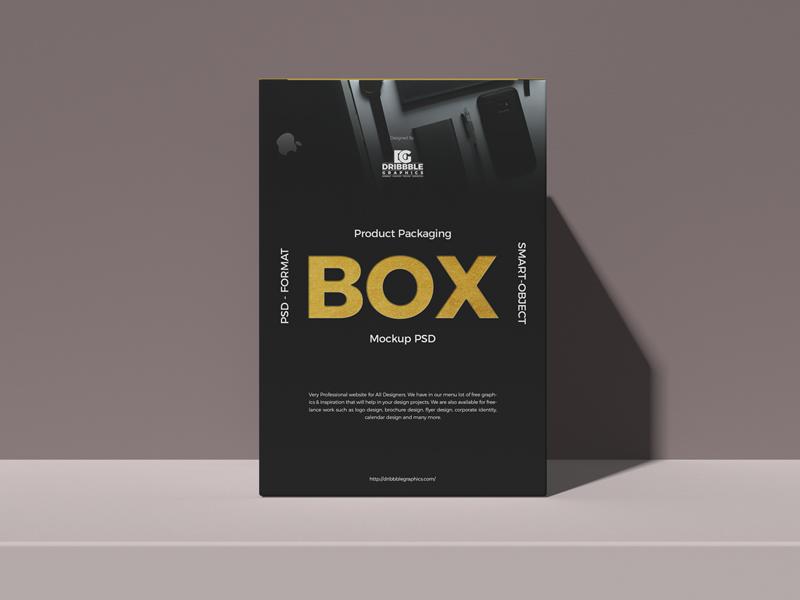 Download Free Product Packaging Box Mockup Psd Dribbble Graphics Mockup Psd Box Mockup Flyer Mockup Psd