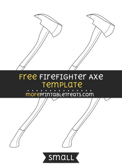free firefighter axe template small shapes and templates