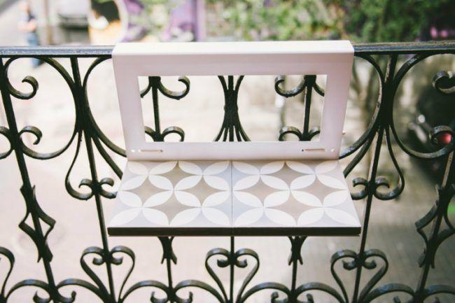 Balkon Klapptisch Für Geländer.Balkon Ideen Klapptisch Gelaender Metall Holz Weiss Beige