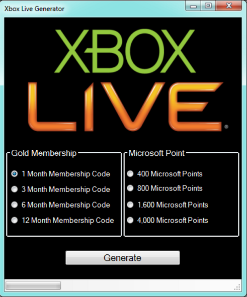 Online Xbox Microsoft Points Generator 2017 for iOS, Android