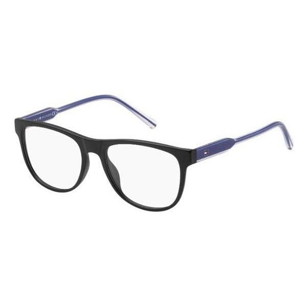 Tommy Hilfiger TH 1441 D4P Eyeglasses ($92) ❤ liked on Polyvore featuring accessories, eyewear, eyeglasses, black, tommy hilfiger eyewear, lens glasses, tommy hilfiger, tommy hilfiger eyeglasses and tommy hilfiger glasses