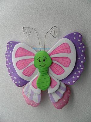 Mariposa goma eva   Goma eva. Foamy   Pinterest   Crafts ...