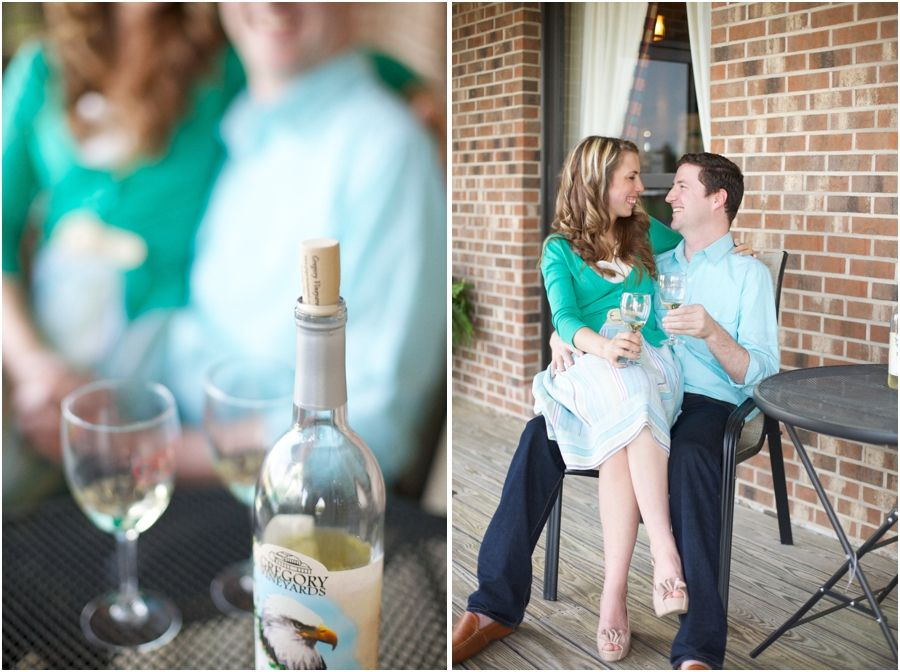Lovers of wine engagement photos by live view studios