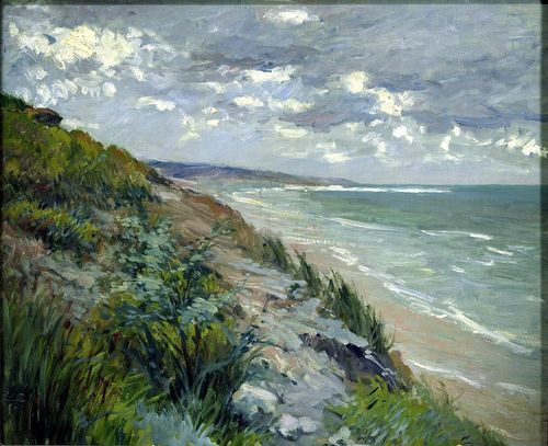 Cliffs by the sea at Trouville (19th century) Gustave Caillebotte (by BoFransson)