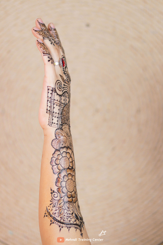 أجمل تصميم للحناء باليدوية رسمة بالحناء للمبتدئات مع تصميم بسيط و انيق الحناء الباكستانية Hand Henna Mehndi Designs Henna