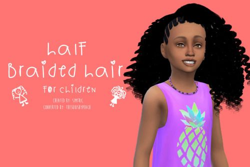 Sims 4 CC's - The Best: Laif Hair Converted for Girls by TheSquishyPeach