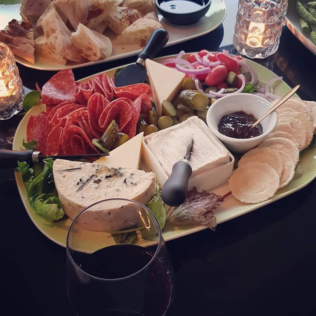 When All You Want To Do Is Drink All The Wine And Eat All The Cheese By Firelight Hello Friday Night Redwine Food Platters Eat Cheese