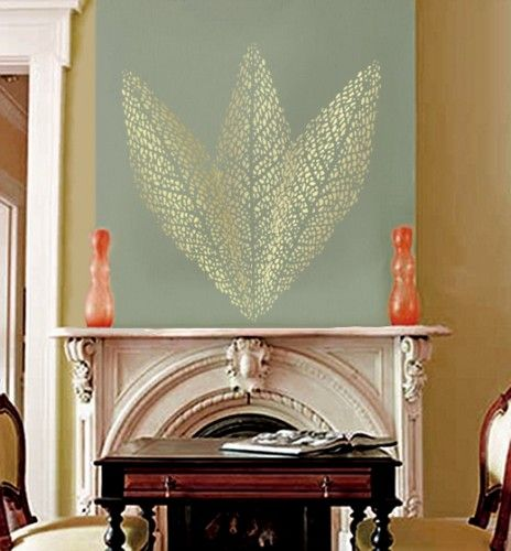LEAF VEINS Large Wall STENCIL Reusable EASY DIY HOME DECOR Wall - Giant wall stencil