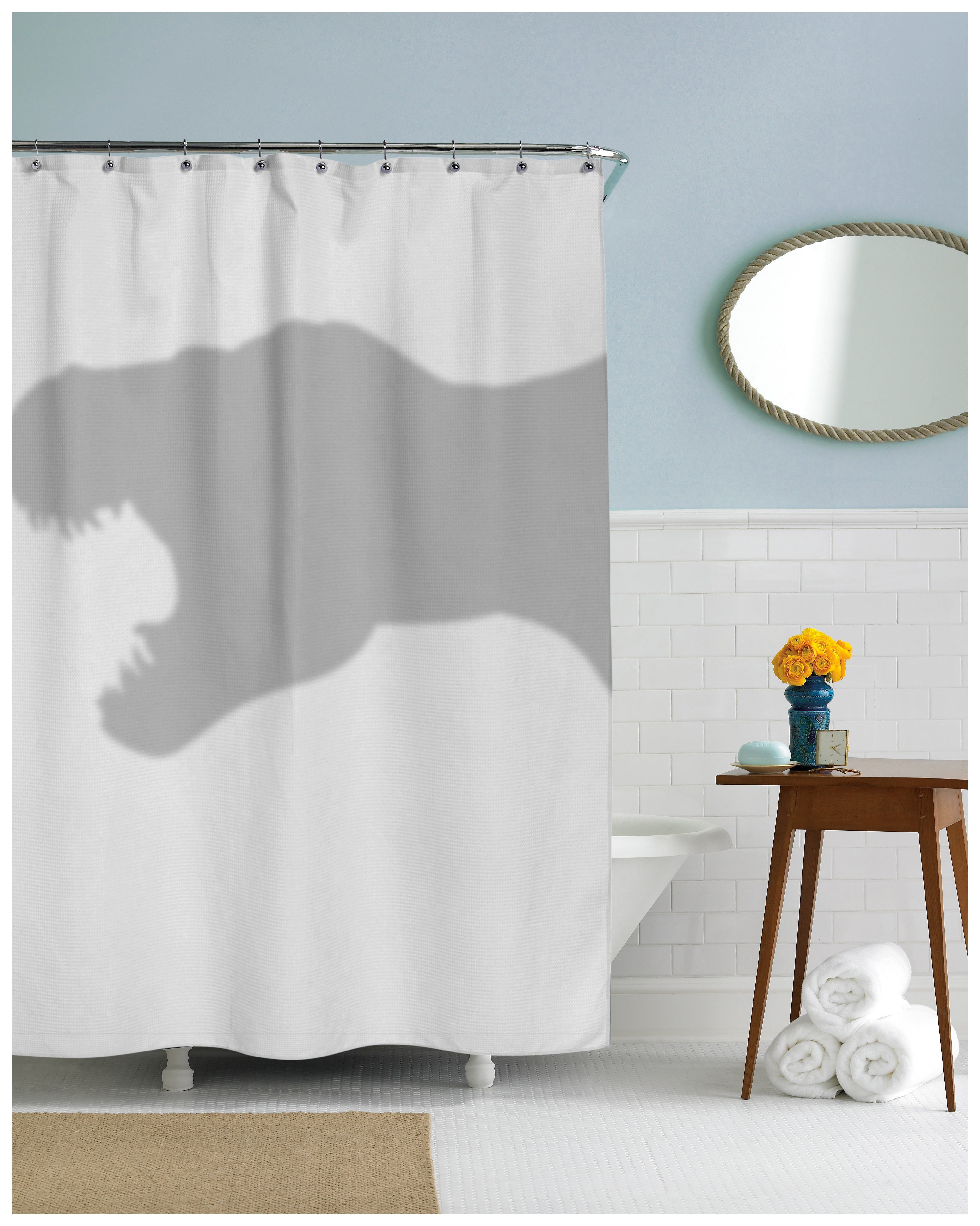 T Rex Shower Curtain | Dinosaur Shower Curtain