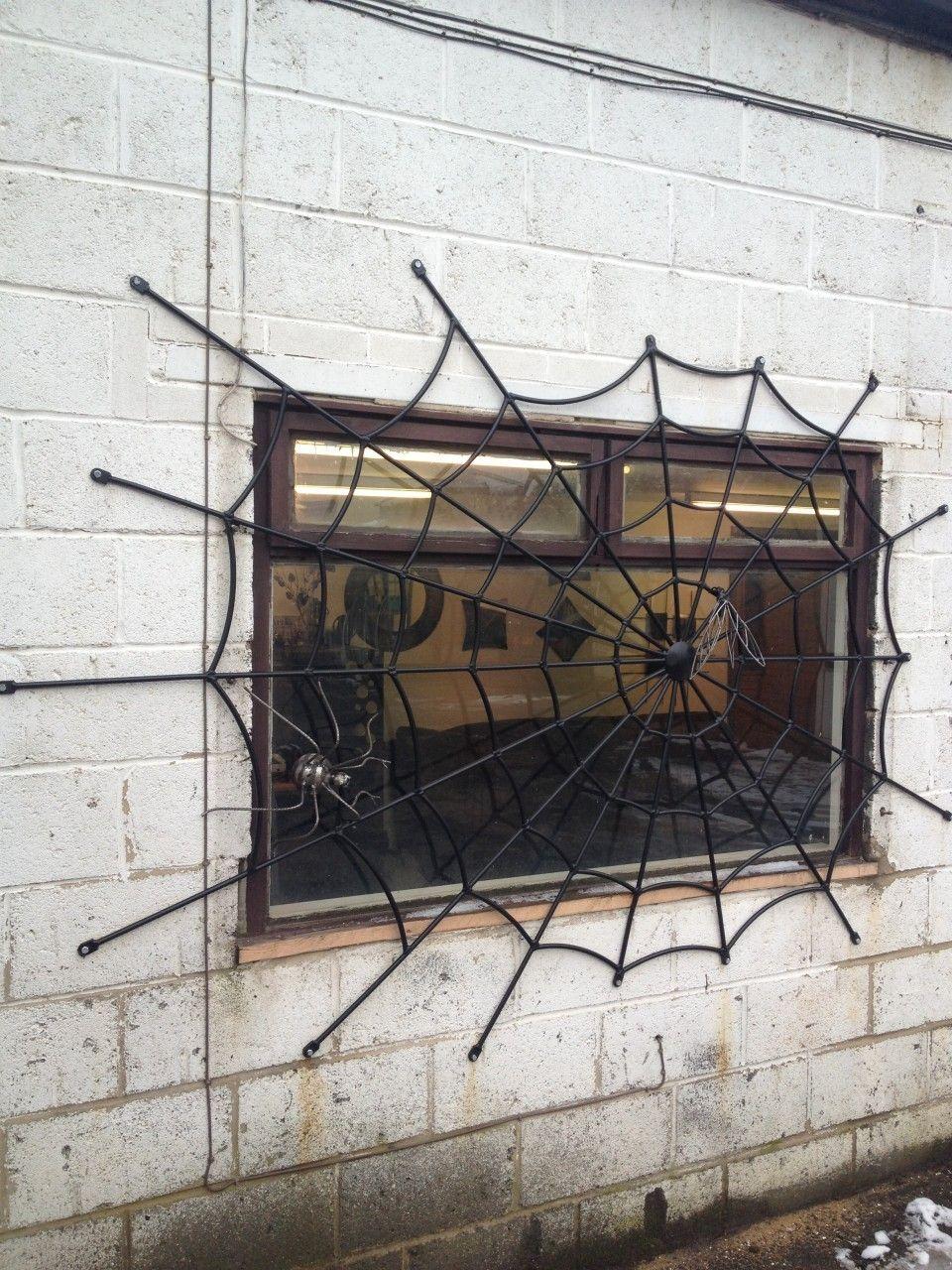 Spider Web Security Grill Ventanas De Metal Decoración En Hierro Rejas Ventanas