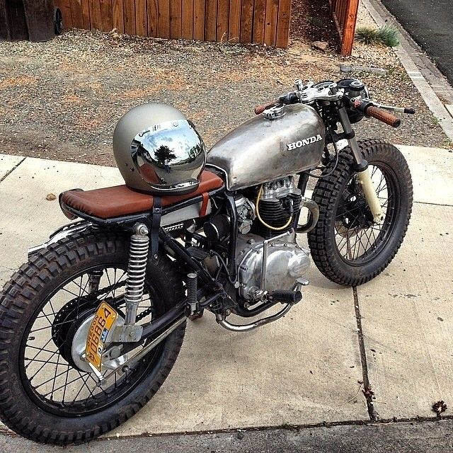 honda cb360 raw metal = perfect! #caferacer #motorcycles #motos
