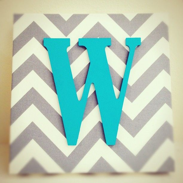 would be cute on the wall with baby's initials