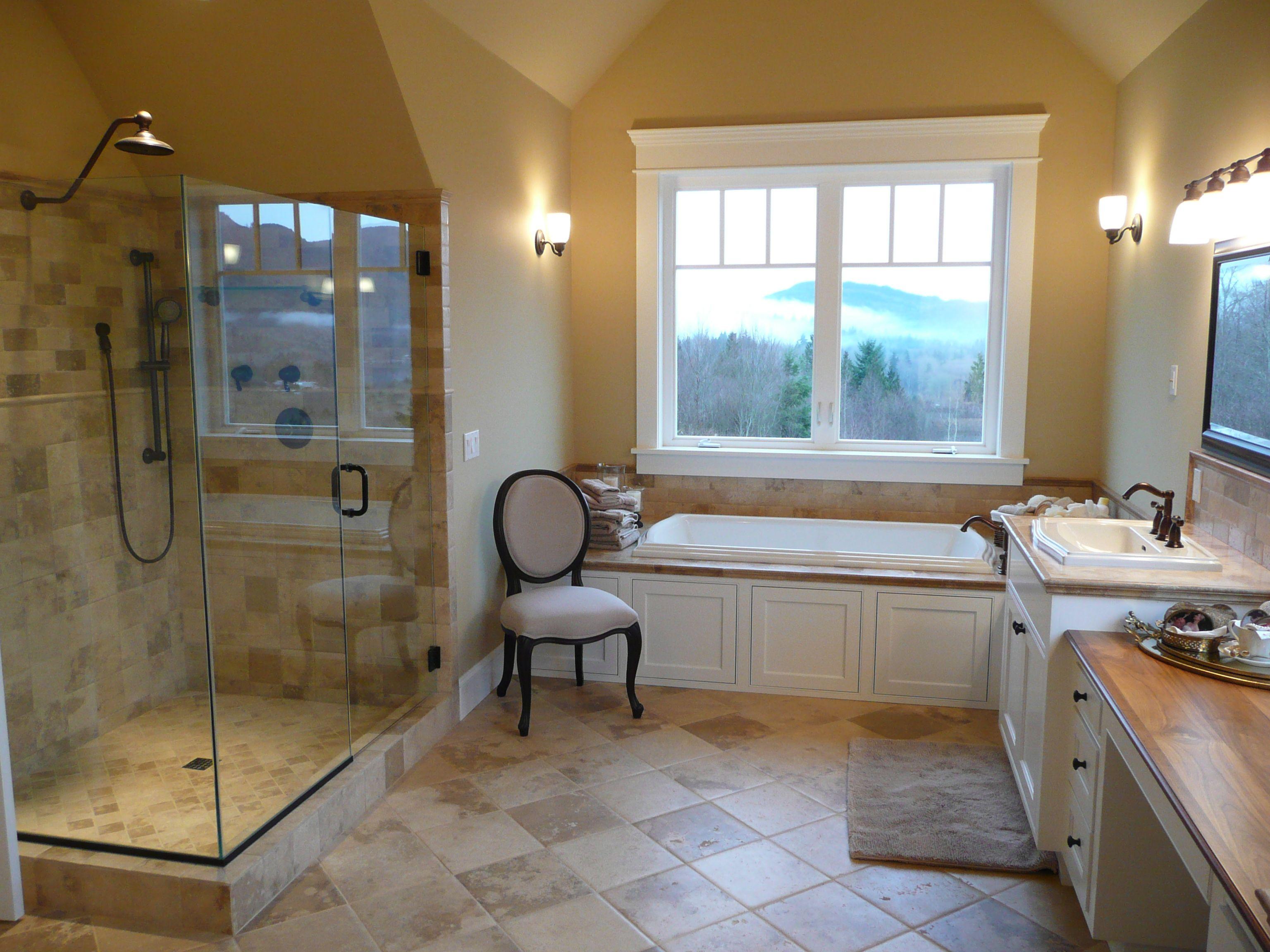 New tile floor and shower