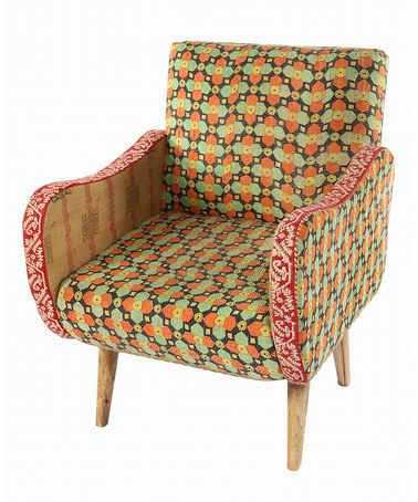 Another Great Find On #zulily! Green U0026 Orange Curved Arm Chair #zulilyfinds