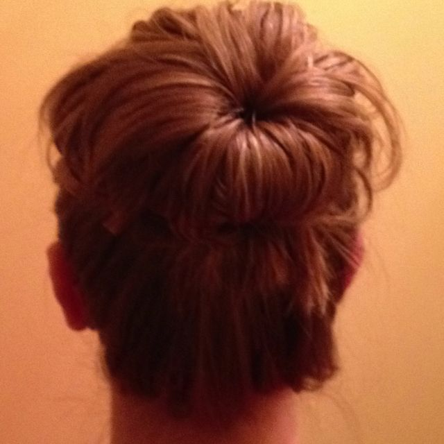 My Bun/Topknot for the Night... #Bun #Topknot #Hairstyle