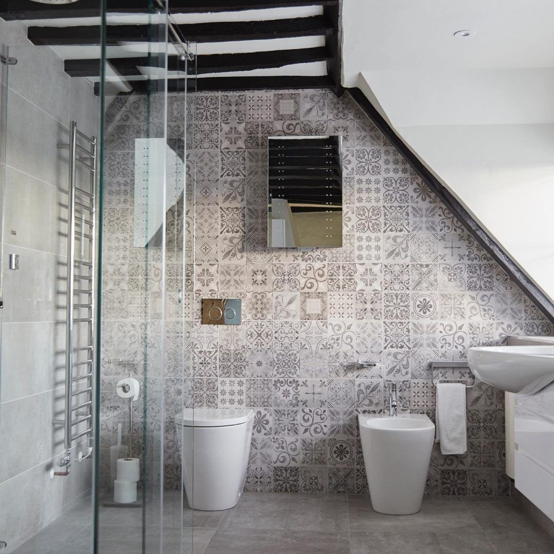 How To Decorate A Bathroom With A Sloping Roof Design Porcelanosa Trendbook Roof Design Bathroom Decor Bathroom Accent Wall