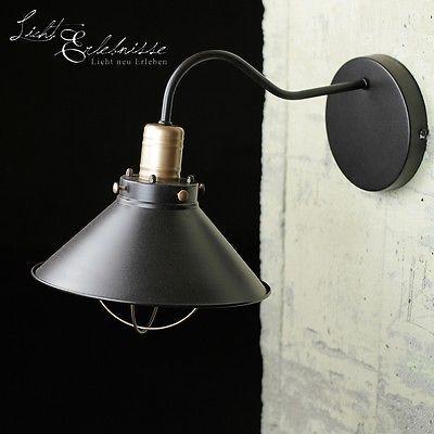LOFT APPLIQUE MURALE LAMPE INDUSTRIELLE NOIR CUIVRE vintage
