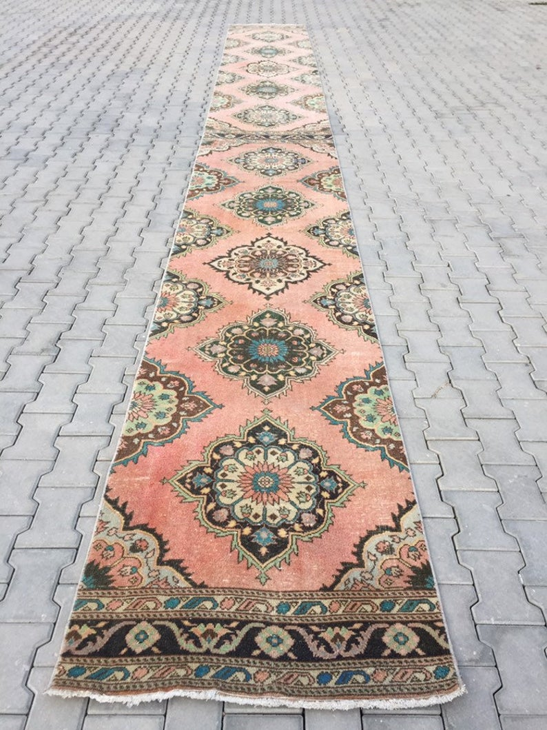 Muted Pink Rug Runner 2 7 X 23 Ft Extra Long Etsy In 2021 Rugs Rug Runner Rugs On Carpet Hall carpet runners extra long